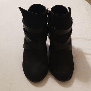 Black Torrid Ankle Bootie Block Heel